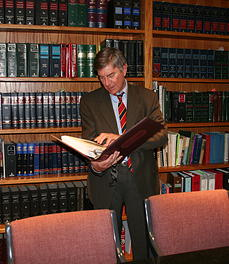 Peter Ricciardelli in Law Library